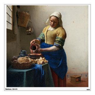 The Milkmaid by Johannes Vermeer Room Sticker