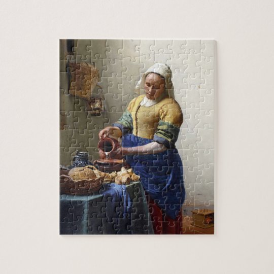 The Milkmaid, c.1658-60 (oil on canvas) Jigsaw Puzzle