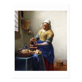 The Milkmaid, c.1658-60 (oil on canvas) Postcard