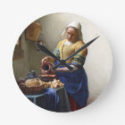 The Milkmaid, c.1658-60 (oil on canvas) Round Clock