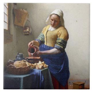 The Milkmaid, c.1658-60 (oil on canvas) Tile