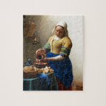 The Milkmaid, Custom gifts. Painting by Vermeer Puzzels