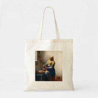 The Milkmaid, Jan Vermeer Tote Bags
