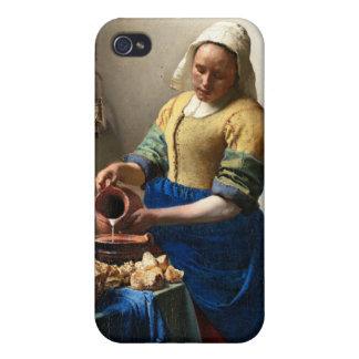 The Milkmaid, Jan Vermeer iPhone 4/4S Covers