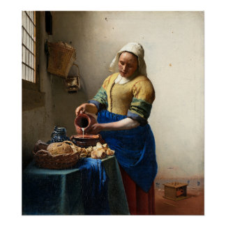 The Milkmaid Jan Vermeer Print