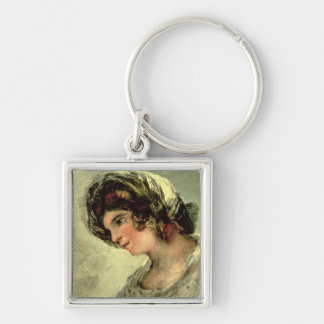 The Milkmaid of Bordeaux, c.1824 (oil on canvas) Keychain