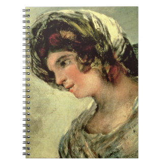 The Milkmaid of Bordeaux, c.1824 (oil on canvas) Spiral Notebook