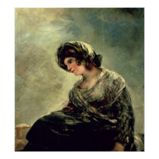 The Milkmaid of Bordeaux, c.1824 Poster
