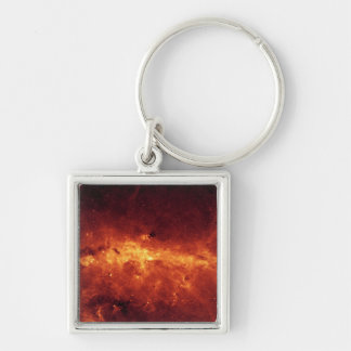 The Milky Way center aglow with dust Keychain
