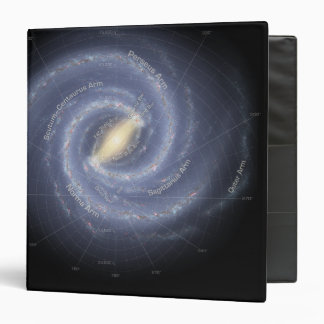 The Milky Way Galaxy (annotated) 3 Ring Binder