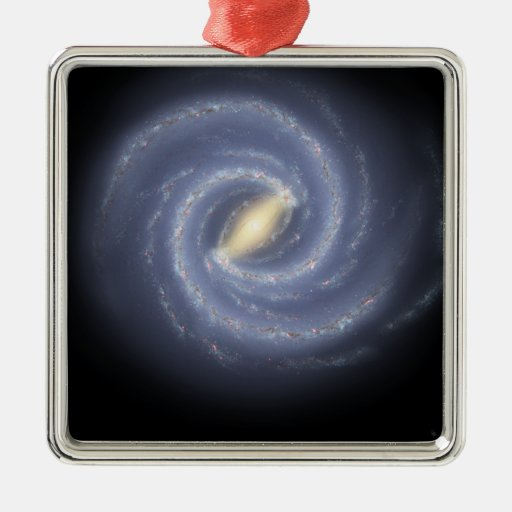 The Milky Way Galaxy Square Metal Christmas Ornament