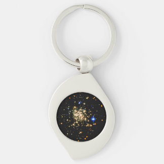 The Milky Way's Densest Star Cluster- The Arches Silver-Colored Swirl Metal Keychain