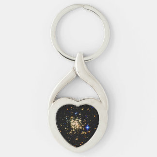 The Milky Way's Densest Star Cluster- The Arches Silver-Colored Heart-Shaped Metal Keychain