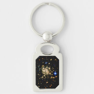 The Milky Way's Densest Star Cluster- The Arches Silver-Colored Rectangular Metal Keychain
