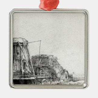 The Mill, 1641 Metal Ornament