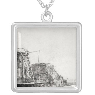 The Mill, 1641 Silver Plated Necklace