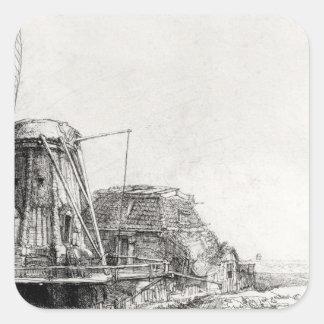 The Mill, 1641 Square Sticker