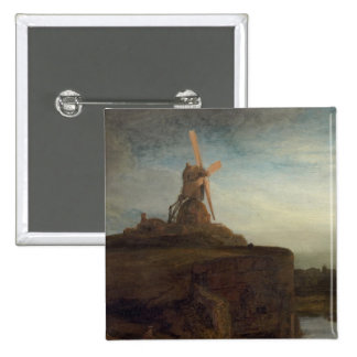 The Mill, 1645- 48 (oil on canvas) Pinback Buttons