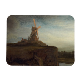 The Mill, 1645- 48 (oil on canvas) Rectangular Photo Magnet