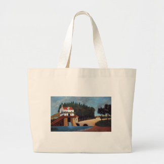The Mill by Henri Rousseau Large Tote Bag