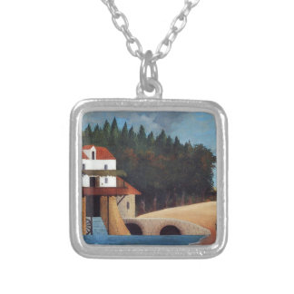 The Mill by Henri Rousseau Silver Plated Necklace