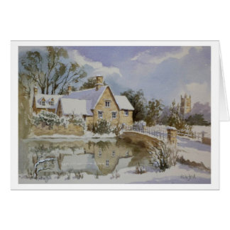 The Mill Fairford in snow 001 Greeting Cards