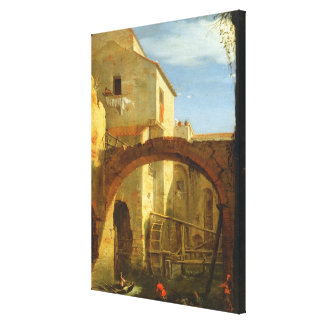 The Mill (oil on canvas) Canvas Print