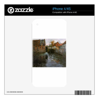 The Mill Pond by Frits Thaulow Decals For The iPhone 4S