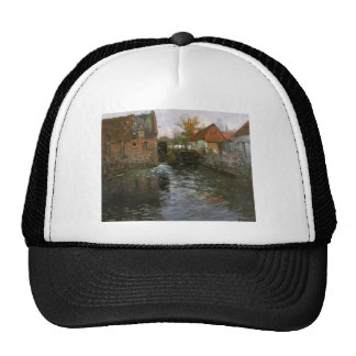 The Mill Pond by Frits Thaulow Trucker Hat