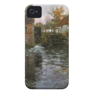 The Mill Pond by Frits Thaulow iPhone 4 Cases