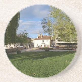 The Mill Pub and Mill Pond in Cambridge Sandstone Coaster