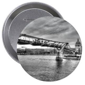 The Millennium Bridge Pinback Buttons