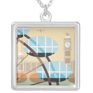 The Millennium Wheel Silver Plated Necklace