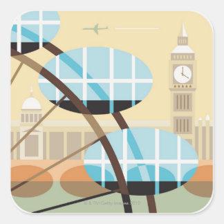 The Millennium Wheel Square Sticker