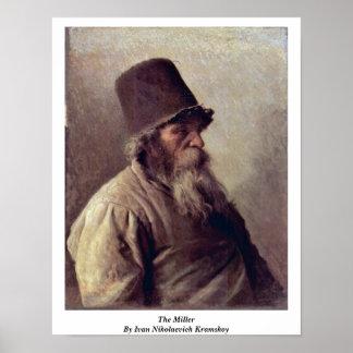 The Miller By Ivan Nikolaevich Kramskoy Posters