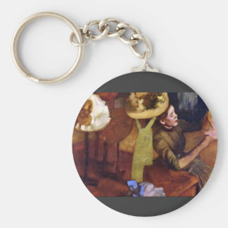 The Millinery Shop by Alfred Sisley Key Chain