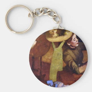 The Millinery Shop by Alfred Sisley Key Chains