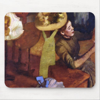 The Millinery Shop by Alfred Sisley Mouse Pad