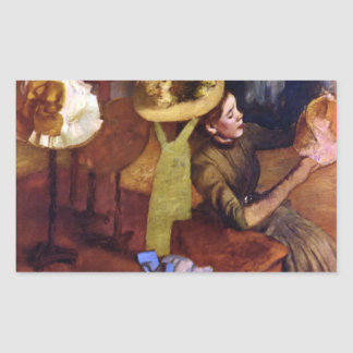 The Millinery Shop by Alfred Sisley Rectangular Sticker