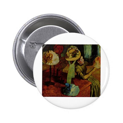 The Millinery Shop- Degas 2 Inch Round Button