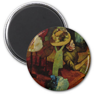 The Millinery Shop- Degas 2 Inch Round Magnet