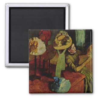 The Millinery Shop- Degas 2 Inch Square Magnet
