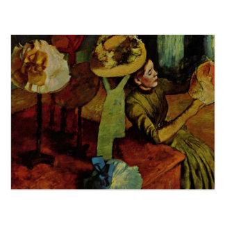 The Millinery Shop- Degas Postcard
