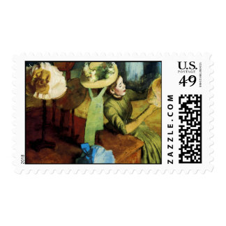 The Millinery Shop Postage Stamp
