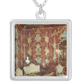 The Millionen Room panelled with fig wood inlaid Silver Plated Necklace