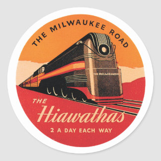 The Milwaukee Road Round Stickers