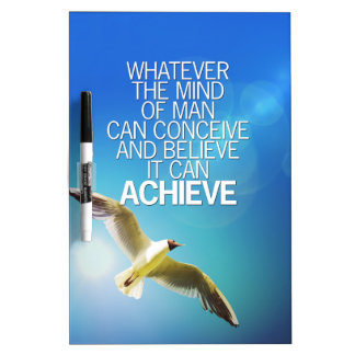 The Mind Can Achieve Seagull Motivational Quote Dry Erase Board