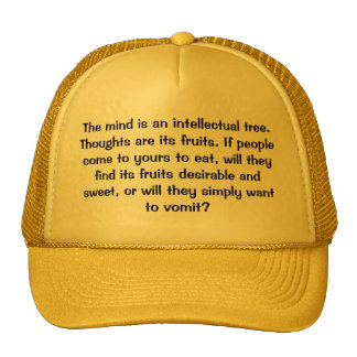 The mind is an intellectual tree. Thoughts are ... Mesh Hats