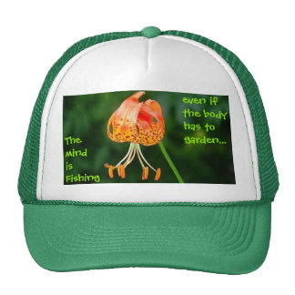 The mind is Fishing............ Trucker Hat