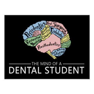 The Mind of a Dental Student Poster